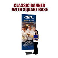 Classic Banner with Square Base