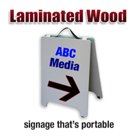 Laminated Wood A Frame Sign