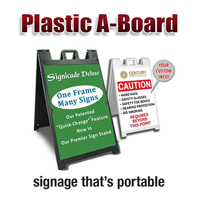 Plastic A Frame Signs