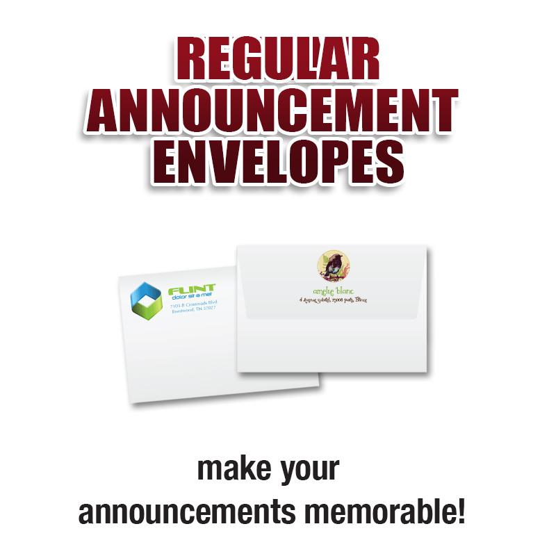 Regular Announcement Envelopes